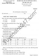 Đề kiểm tra giữa HK1 năm 2020 THPT Lê Quý Đôn môn Địa lớp 11