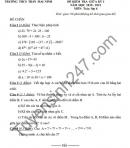 Đề kiểm tra giữa HK1 2020 THCS Trần Mai Ninh môn Toán lớp 6