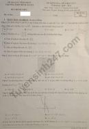 Đề kiểm tra giữa HK1 năm 2020 lớp 12 THPT Bình Xuyên môn Toán