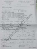 Đề kiểm tra giữa HK1 năm 2020 THPT Trần Văn Dư môn Toán lớp 10
