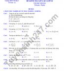 Đề kiểm tra giữa HK1 năm 2020 THPT Mỹ Đức C môn Toán lớp 10