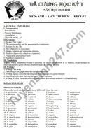 Đề cương học kì 1 Anh lớp 12 (sách thí điểm) THPT Xuân Đỉnh 2020