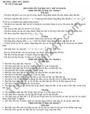 Đề cương ôn tập HK1 môn Lý lớp 10 THPT Đức Trọng 2020