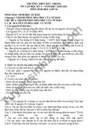 Đề cương ôn tập HK1 năm 2020 THPT Đức Trọng lớp 10 môn Sinh