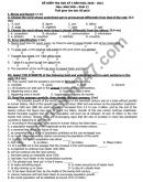 Đáp án đề thi HK1 THPT Lương Văn Can môn Anh lớp 11 năm 2020