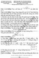 Đề kiểm tra HK1 2020 môn Toán lớp 10 THPT Chuyên Lê Quý Đôn