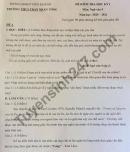 Đề thi học kì 1 lớp 9 môn Văn năm 2020 THCS Trần Nhân Tông