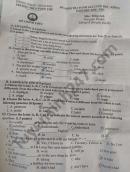 Đề thi học kì 1 năm 2020 THCS Vọng Thê môn Anh lớp 8