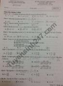 Đề thi học kì 1 môn Toán lớp 10 THPT Thanh Miện 2020 - 2021