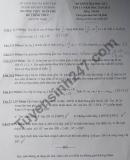 Đề thi học kì 1 lớp 11 môn Toán THPT Trần Phú 2020 - 2021