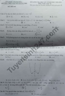 Đề thi học kì 1 môn Toán lớp 12 THPT Nguyễn Quán Nho 2020