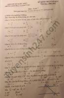 Đề thi học kì 1 huyện Kiến Thụy môn Toán lớp 7 năm 2020