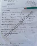 Đề thi học kì 1 môn Toán lớp 10 THPT Trần Hưng Đạo 2020