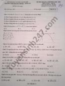 Đề thi học kì 1 môn Toán lớp 10 năm 2020 THPT Quang Trung