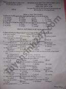 Đề thi khảo sát vào lớp 10 lần 1 huyện Quảng Xương môn Anh 2021