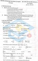 Đề cương giữa kì 2 môn Toán lớp 8 THCS&THPT Nguyễn Tất Thành 2021