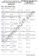 Đề thi giữa học kì 2 THCS-THPT Nguyễn Tất Thành 2021 Toán lớp 11
