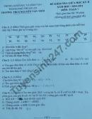 Đề thi giữa kì 2 năm 2021 THCS Nguyễn Văn Trỗi lớp 7 môn Toán