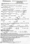 Đề thi giữa kì 2 năm 2021 môn Toán lớp 8 THCS Tống Văn Trân
