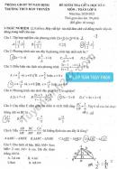 Đề thi giữa kì 2 lớp 8 môn Toán 2021 - THCS Hàn Thuyên