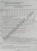 Đề thi giữa học kì 2 Toán lớp 7 THCS Nguyễn Chí Diểu năm 2021