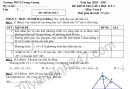 Đề thi giữa kì 2 môn Toán lớp 8 - THCS Trưng Vương 2021