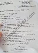 Đề thi giữa kì 2 môn Toán lớp 8 THCS Nguyễn Du năm 2021