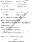 Đề thi giữa kì 2 môn Toán lớp 8 THCS Cát Linh 2021