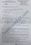 Đề thi giữa kì 2 năm 2021 THCS Trần Quang Khải môn Toán lớp 7