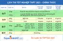 Lịch thi tốt nghiệp THPT năm 2021 - Chi tiết