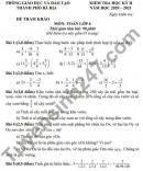 Đề thi học kì 2 môn Toán lớp 6 - TP Bà Rịa 2021 (Đề tham khảo)