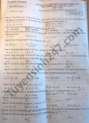 Đề thi thử tốt nghiệp THPT 2021 môn Toán tỉnh Vĩnh Phúc lần 2