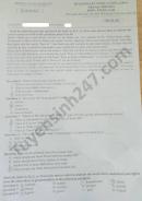 Đề khảo sát chất lượng lớp 9 môn Anh Phòng GD Nghi Lộc