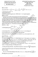 Đề thi thử vào lớp 10 môn Toán THCS Nguyễn Du năm 2021 lần 4
