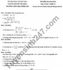 Đề thi học kì 2 lớp 11 môn Toán 2021 - THPT Mạc Đĩnh Chi
