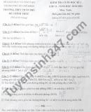 Đề thi học kì 2 lớp 11 môn Toán 2021 - THPT Trần Phú