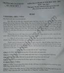 Đề thi kì 2 lớp 9 môn Văn năm 2021 - THCS Nguyễn Du