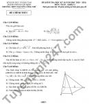 Đề thi kì 2 lớp 11 môn Toán 2021 - THPT Nguyễn Công Trứ