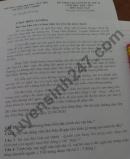 Đề thi học kì 2 lớp 10 môn Văn - THPT Hoàng Văn Thụ 2021