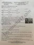 Đề thi học kì 2 năm 2021 môn Toán lớp 7 THCS Nguyễn Trãi