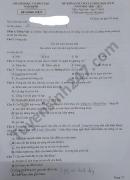 Đề thi học kì 2 năm 2021 môn Văn lớp 7 - Sở GD Nam Định