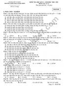 Đề thi học kì 2 môn Lý lớp 11 THPT Phan Ngọc Hiển năm 2021