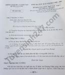 Đề thi học kì 2 lớp 9 môn Văn huyện Lai Vung năm 2021