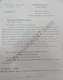 Đề thi kì 2 lớp 7 môn Văn 2021 - THCS TT Tri Tôn
