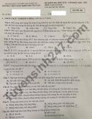 Đề thi học kì 2 môn Lý lớp 10 - THPT Năng khiếu ĐH Tân Tạo 2021