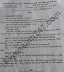Đề thi kì 2 lớp 9 môn Văn 2021 - Phòng GD Lệ Thủy
