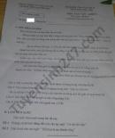 Đề thi học kì 2 môn Văn lớp 7 THCS Nguyễn Huệ năm 2021