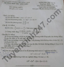 Đề thi học kì 2 môn Toán lớp 10 - THPT Đốc Binh Kiều 2021