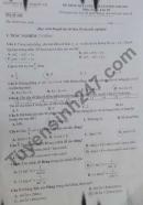 Đề thi kì 2 lớp 10 môn Toán 2021 - THCS Thạch An