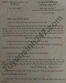 Đề thi học kì 2 lớp 9 môn Văn - Phòng GD Hà Quảng 2021